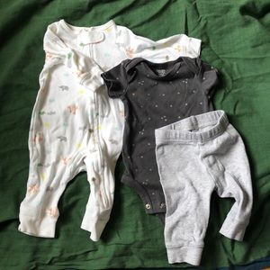 Baby pajamas and outfit set
